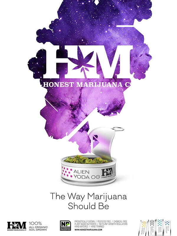 Honest Marijuana_Alien Yoda OG_Ad