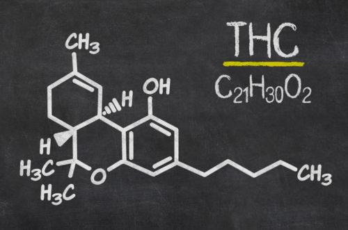 Chemical formula of THC