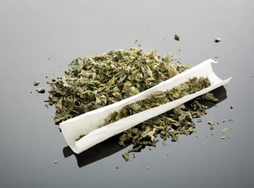 Handmade marijuana cigarette