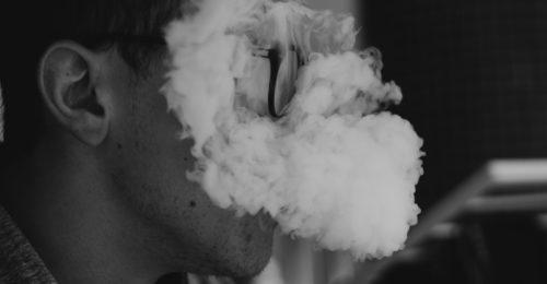 Man smoking marijuana