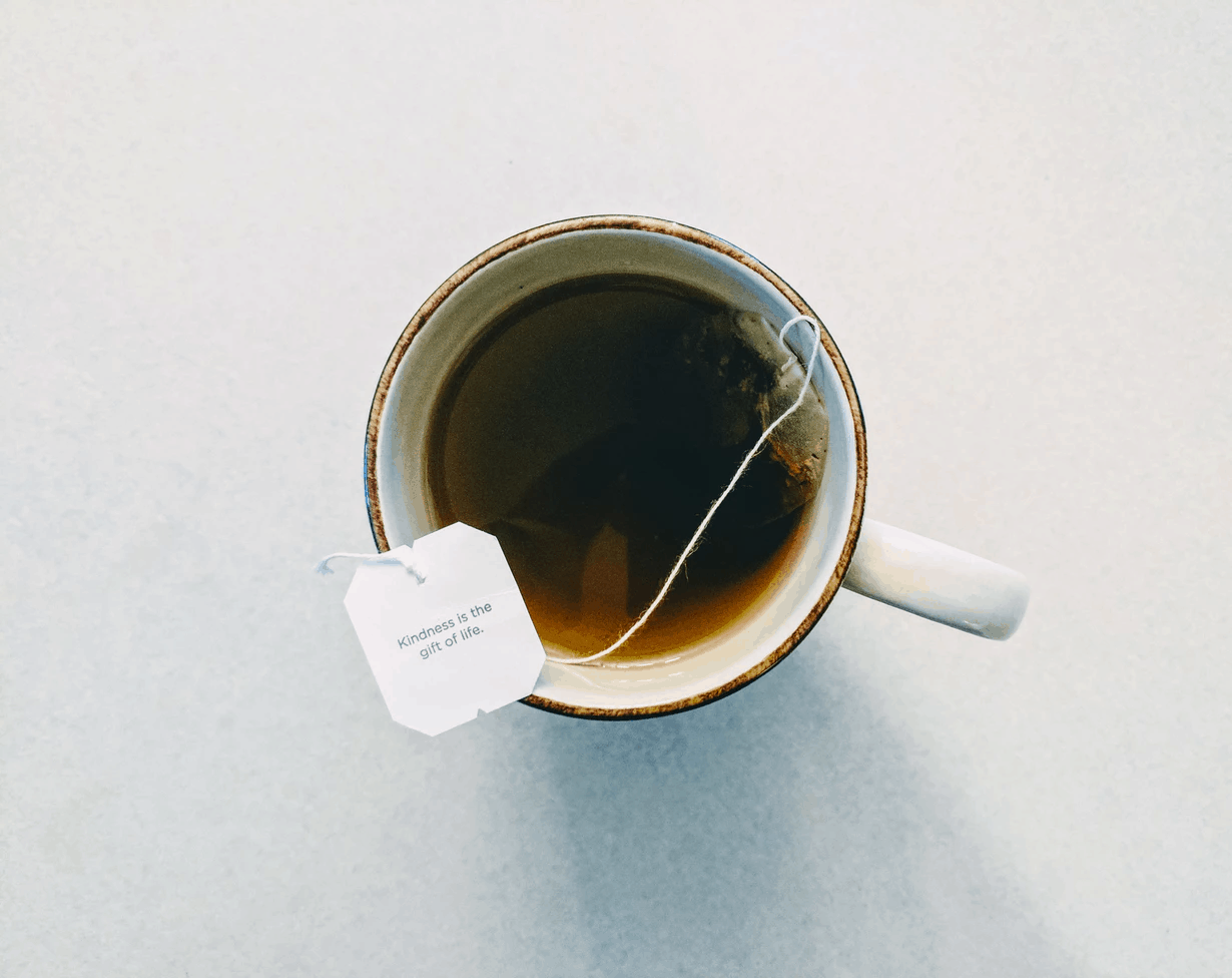 CBD honey in a cup of tea